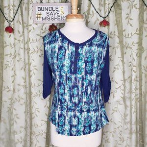 BIT & BRIDLE BLUE MINT RIBBED BACK BOHO DESIGN TOP
